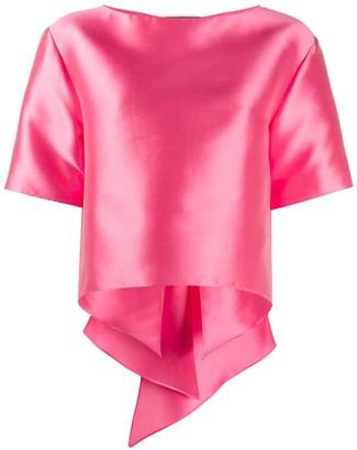 Alberta Ferretti oversized bow detailed T-shirt
