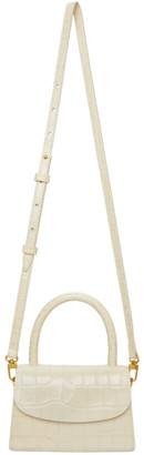 BY FAR Off-White Croc Mini Bag
