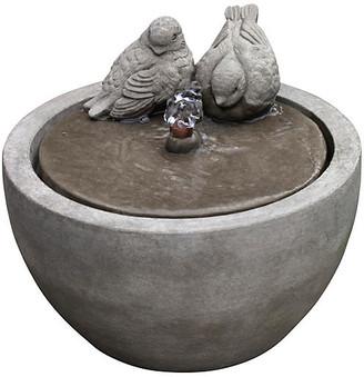 "Campania International 10"" Bird Fountain - Gray"