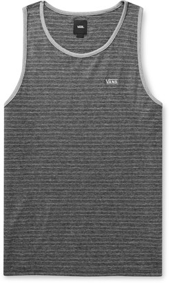 Vans Balboa Ii Logo-Embroidered Striped Cotton-Jersey Tank Top