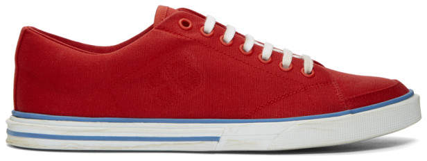 Balenciaga Red Match Low Sneakers