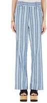Isabel Marant Women's Selina Cotton Wide-Leg Trousers-BLUE