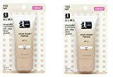 Almay Smart Shade Makeup with SPF 15, Light 100, 1 Oz Tubes (Pack of 2) + FREE LA Cross Blemish Remover 74851