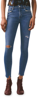 A Gold E AGOLDE Sophie High-Rise Ankle Skinny Jeans