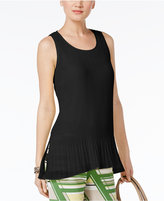 Alfani Pleated Peplum Top, Created for Macy's