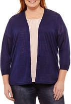 Liz Claiborne Open Cardigan- Plus