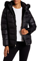 Andrew Marc Avery Genuine Rabbit & Genuine Fox Fur Quilted Jacket