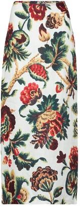 Sir. Ambroise floral linen midi skirt