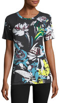 Prabal Gurung Abstract Floral-Print T-Shirt