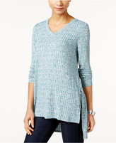 Style&Co. Style & Co Ribbed High-Low Tunic, Only at Macy's