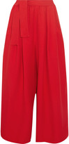 Tome Cropped Crepe Wide-leg Pants - Red