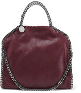 Stella McCartney The Falabella Medium Faux Brushed-leather Shoulder Bag - Merlot