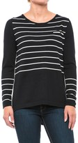 August Silk Button-Back Striped Sweater (For Women)