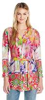 Desigual Women's Rosa Woven Long Sleeve Shirt, Flour Pink, XS