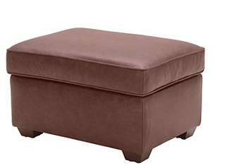 Rivet Andrews Contemporary Top-Grain Leather Ottoman