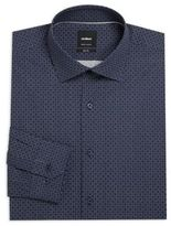 Strellson Slim-Fit Printed Cotton Dress Shirt
