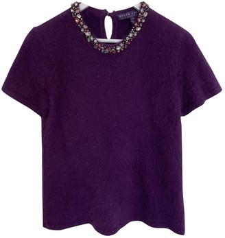 Ralph Lauren Purple Fur Knitwear for Women
