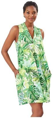 Tommy Bahama Fronderlust Shift Dress (White) Women's Clothing