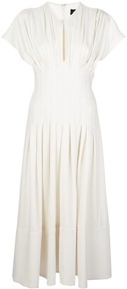 Proenza Schouler Fitted Waist Pleated Dress