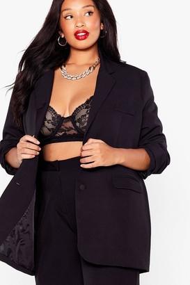 Nasty Gal Womens Business Minded Plus Oversized Blazer - Black