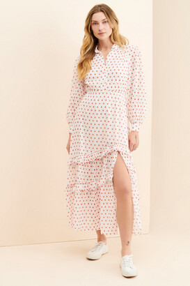 Steele Quinn Polka Dot Maxi Dress