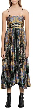 Sandro Riana Printed Maxi Dress