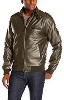 Members Only Men's Original Leather Iconic Racer Jacket