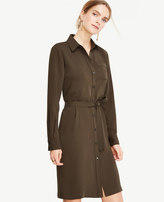 Ann Taylor Petite Piped Shirtdress