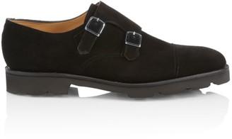 John Lobb William Suede Double Monk-Strap Shoes