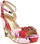 Marc Fisher As Is Ankle Strap Wedges w/ Jewels - Elia