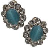 AJ Fashion Jewellery Adorlee Silver tone Crystal Clip On Earrings