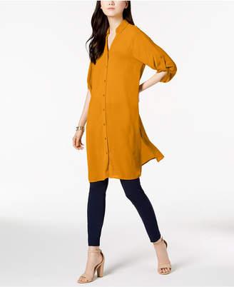 Alfani Roll-Tab Tunic Shirt