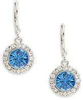 Carolee Something Blue Round Drop Earrings
