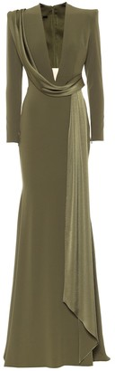 Alex Perry Ario satin crepe gown
