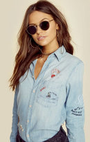 Mother the foxy boxy denim shirt