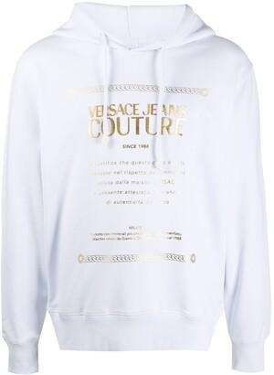 Versace Logo Print Hoodie