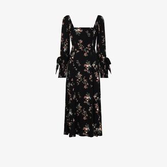 Reformation Aubrey floral print midi dress