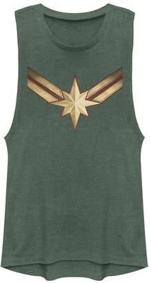 Fifth Sun Marvel Women Captain Marvel Movie Logo Festival Muscle Tank Top