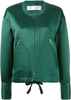 Victoria Beckham zip pocket bomber jacket - women - Silk/Viscose - 6