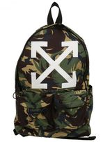 Off-White Military Green Camouflage Print Backpack