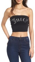 Juicy Couture Women's Gothic Crystals Jersey Tube Top