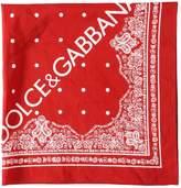 Dolce & Gabbana Logo Printed Cotton Bandana