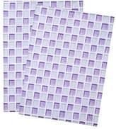 "CozyCabin Tea Towel,100% Cotton Everyday Basic Kitchen Dishtowel,Kitchen Towel,Machine Washable ,20 x 28"" Set of 2 Watercolour Tiles"