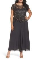 Pisarro Nights Plus Size Women's Mock 2-Pc. A-Line Gown