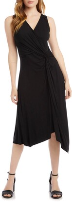 Karen Kane Asymmetrical Hem Sleeveless Dress