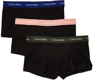 Calvin Klein Underwear Cotton Stretch Low Rise Trunk 3-Pack NU2664 (Black/Candlelight/Duffle Bag/Navy Seal) Men's Underwear