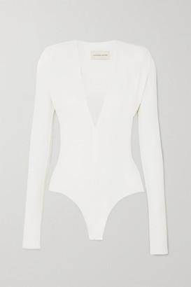 Alexandre Vauthier Stretch-jersey Bodysuit - White
