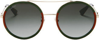 Gucci Colorblock Round Aviator Sunglasses