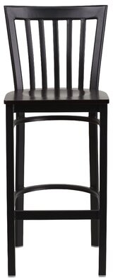 "Winston Porter Chafin 29"" Bar Stool Color: Walnut, Pack Size: 1"