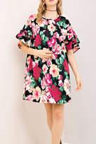 Entro Black Floral Dress